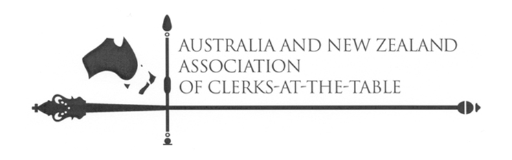 Logo of the Australia New Zealand Association of Clerk at the Table